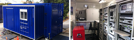 The lab is ready for transport...and expands for use