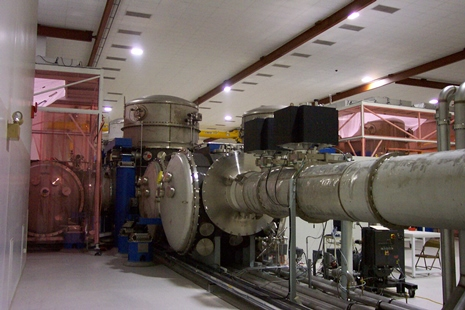 Agilent (Varian) ion pumps mounted on the beam tube at a LIGO laboratory. (Image courtesy of http://www.ligo.org/multimedia/gallery/vac.php)