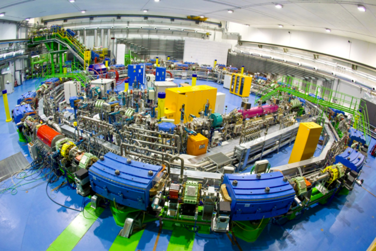 The top image in this post is the Synchrotron at MedAustron.  Here is the facility at CNAO.